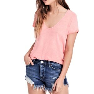 NEW Free People We the Free Saturday Lace Trim Tee